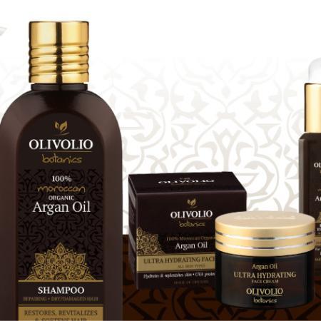 Argaaniöljyä sisaltävät Olivolio Botanics tuotteet