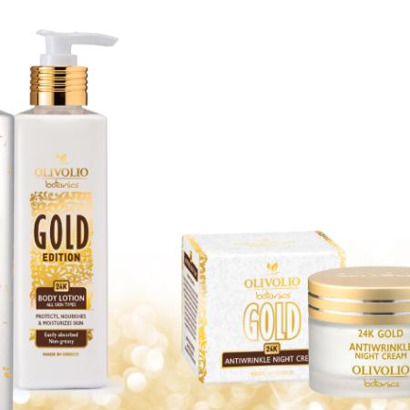 24 karaatin kultaa sisältävät tuotteet Olivolio Botanics
