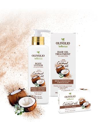 Kookosõliga Olivolio Botanics tooted